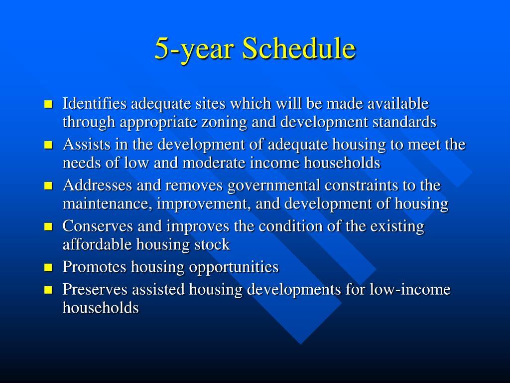 5-year Schedule