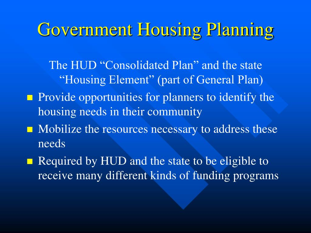 Government Housing Planning