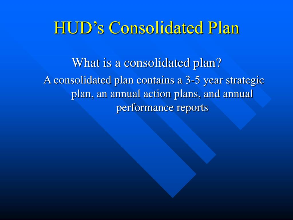 HUD's Consolidated Plan
