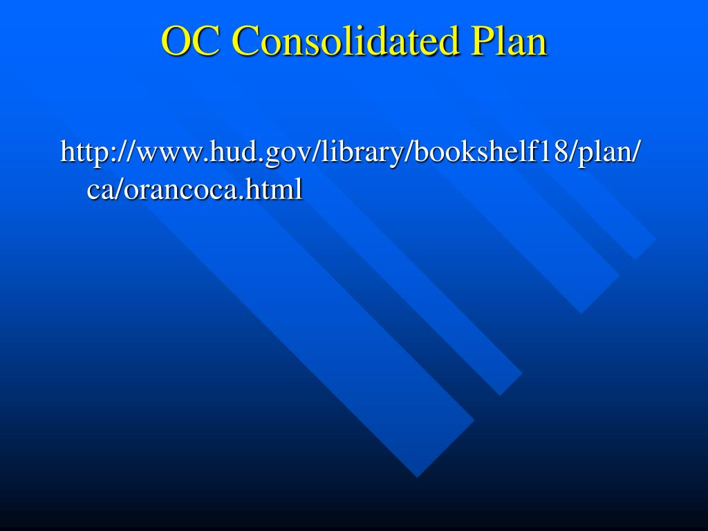 OC Consolidated Plan