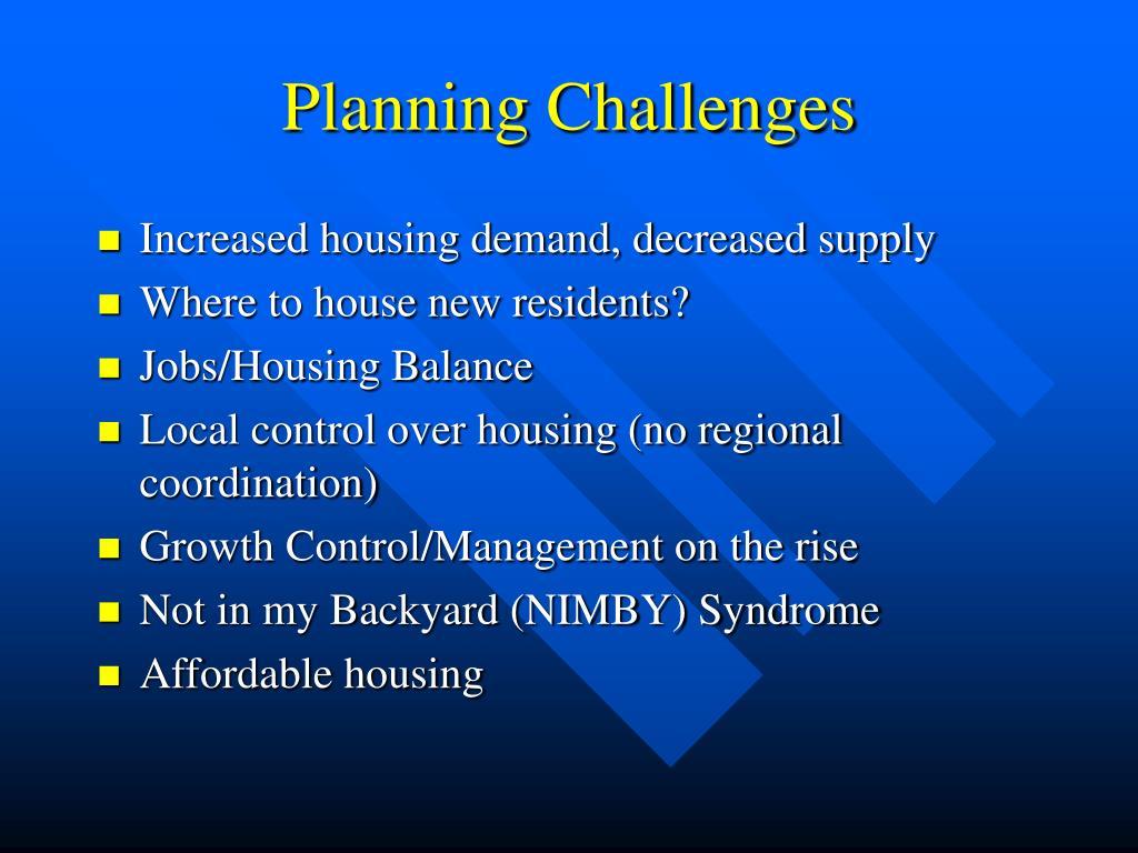 Planning Challenges