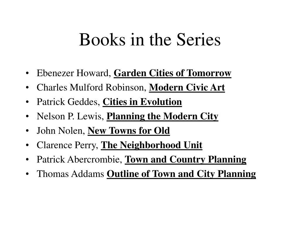 Books in the Series