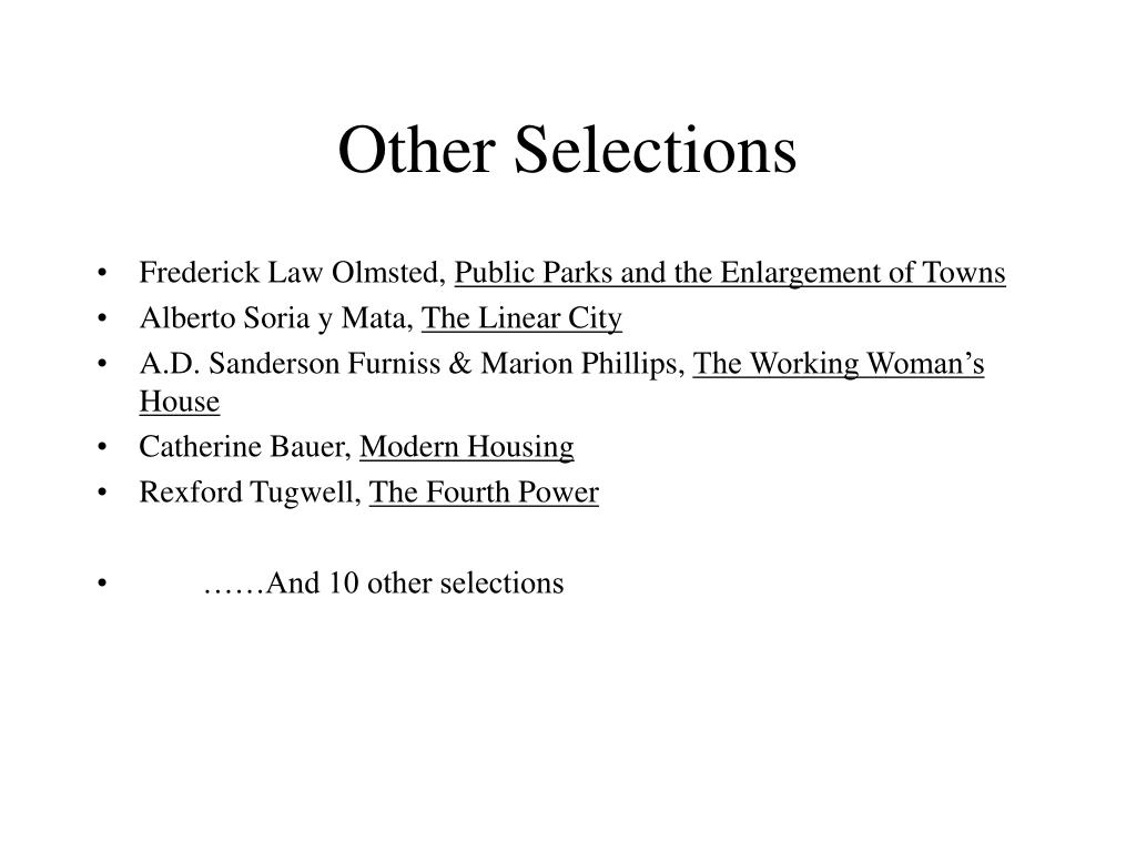 Other Selections