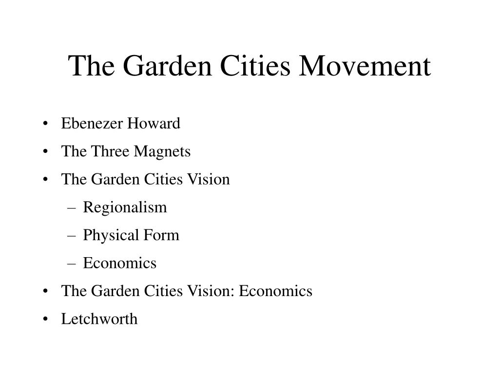 The Garden Cities Movement