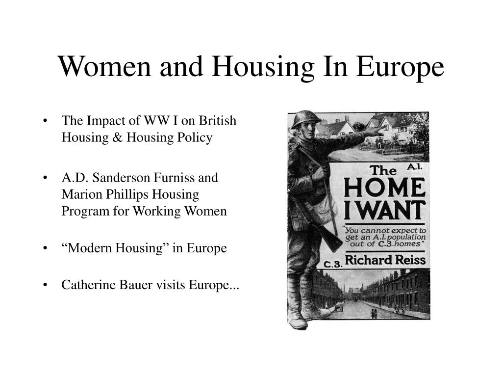Women and Housing In Europe