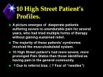 10 high street patient s profiles