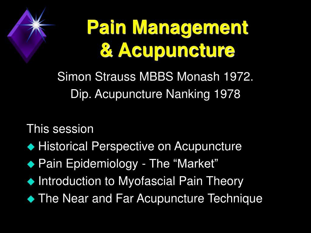 pain management acupuncture
