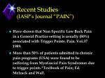 recent studies iasp s journal pain32