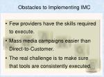 obstacles to implementing imc