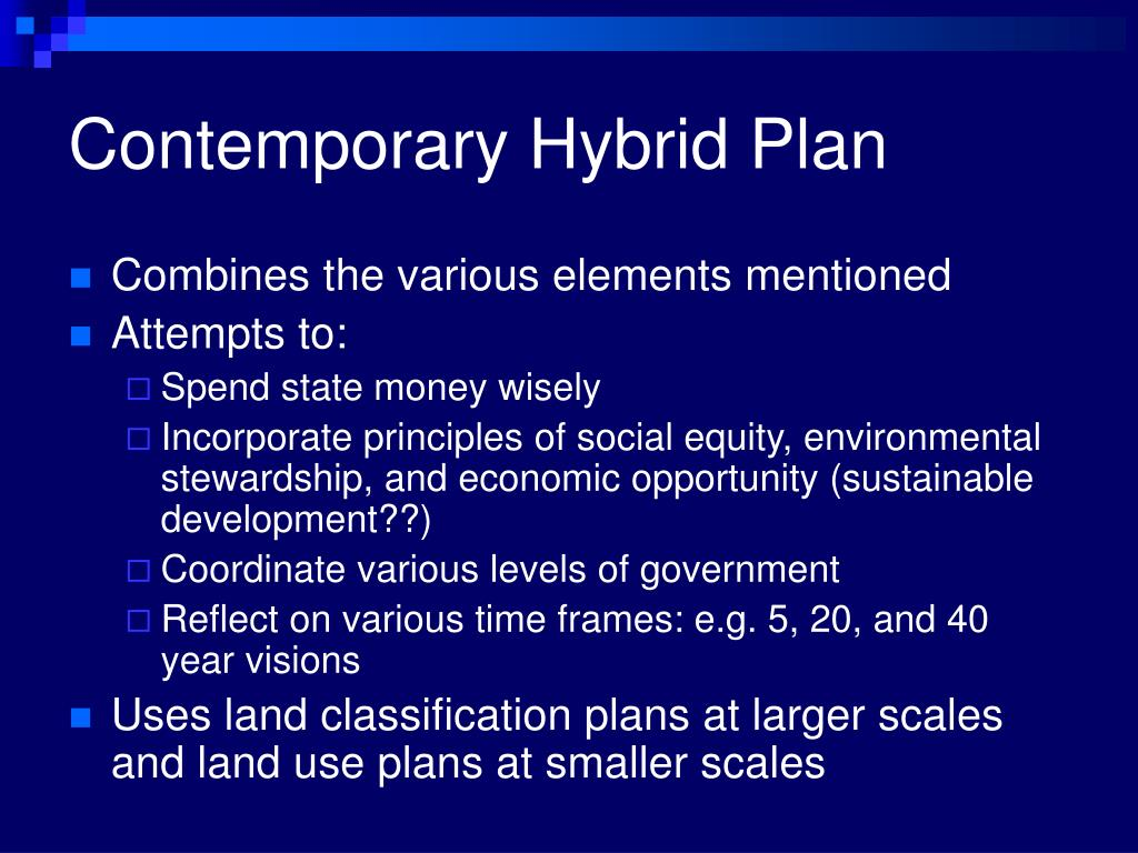 Contemporary Hybrid Plan
