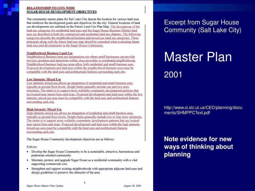 Excerpt from Sugar House Community (Salt Lake City)