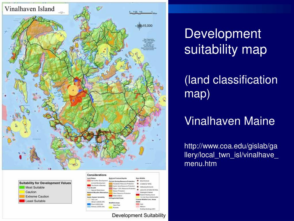Development suitability map
