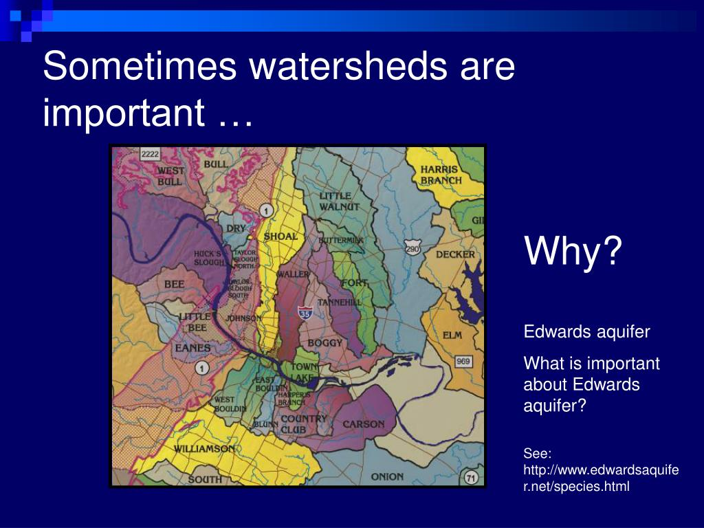 Sometimes watersheds are important …