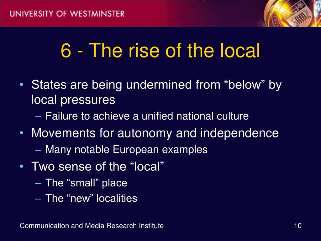 6 - The rise of the local