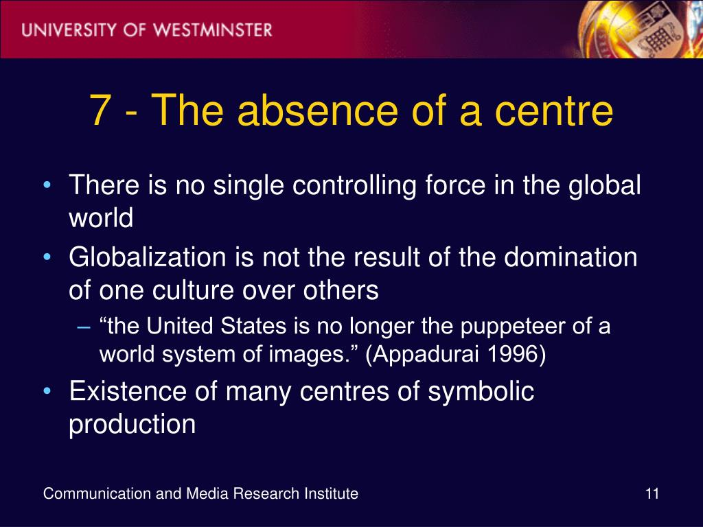 7 - The absence of a centre