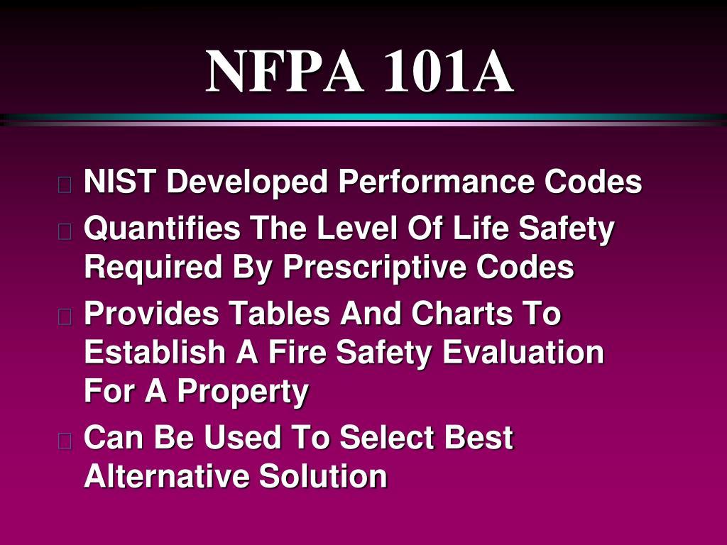 NFPA 101A