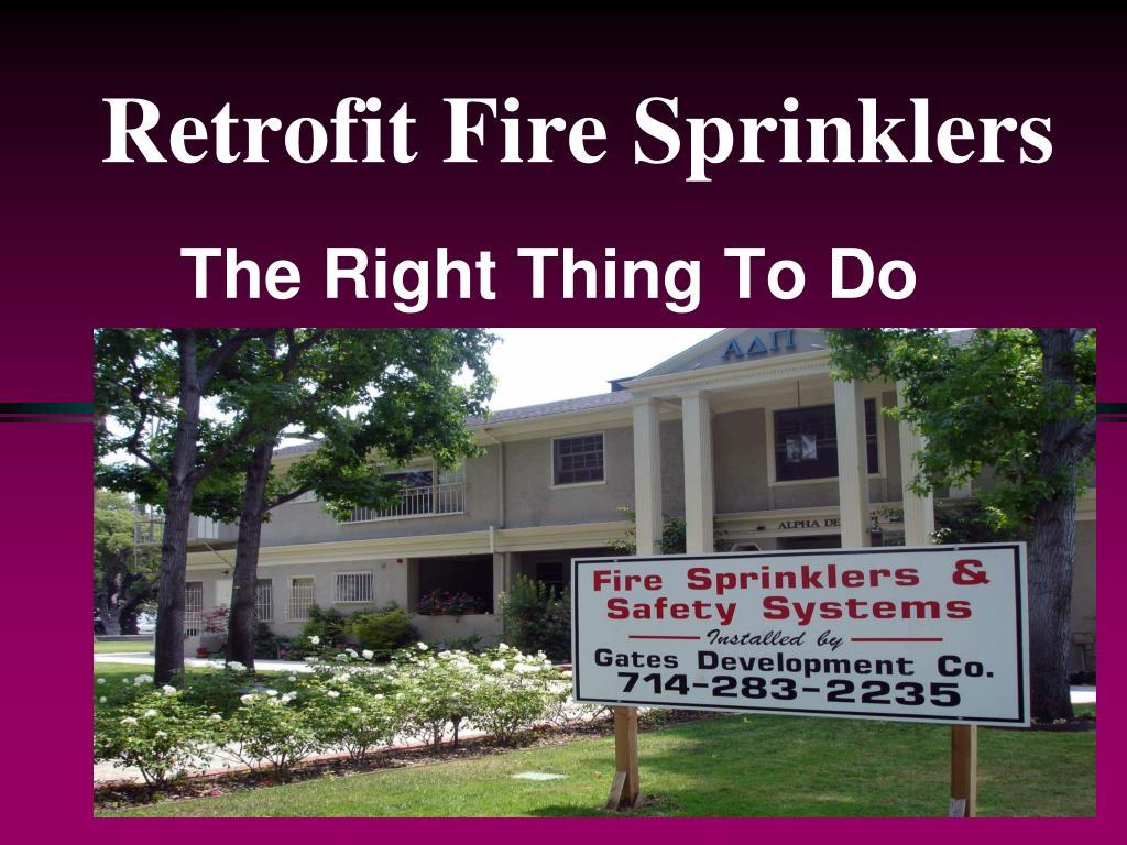 Retrofit Fire Sprinklers