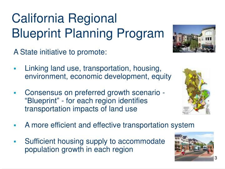 California regional blueprint planning program