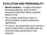 evolution and personality14