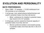 evolution and personality19