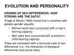 evolution and personality23
