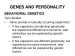 genes and personality25