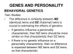 genes and personality26
