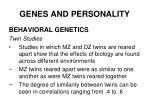 genes and personality27