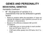 genes and personality30