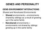 genes and personality34