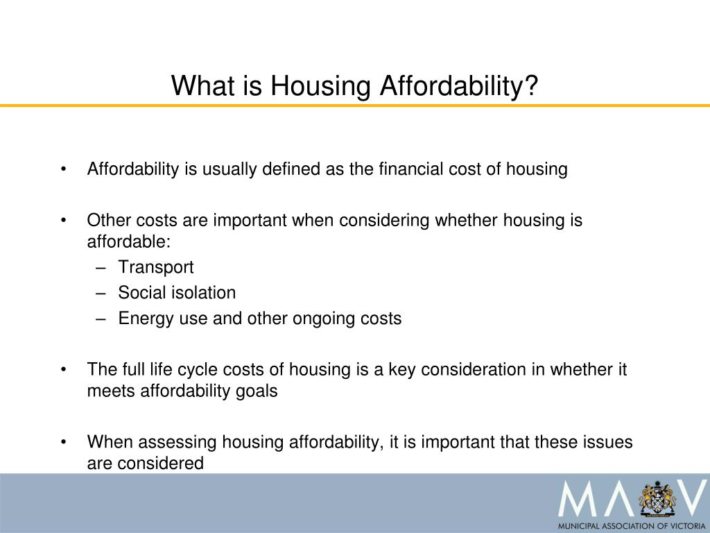 What is Housing Affordability?