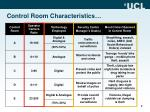 control room characteristics