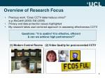 overview of research focus