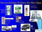 nanotechnology products are here now