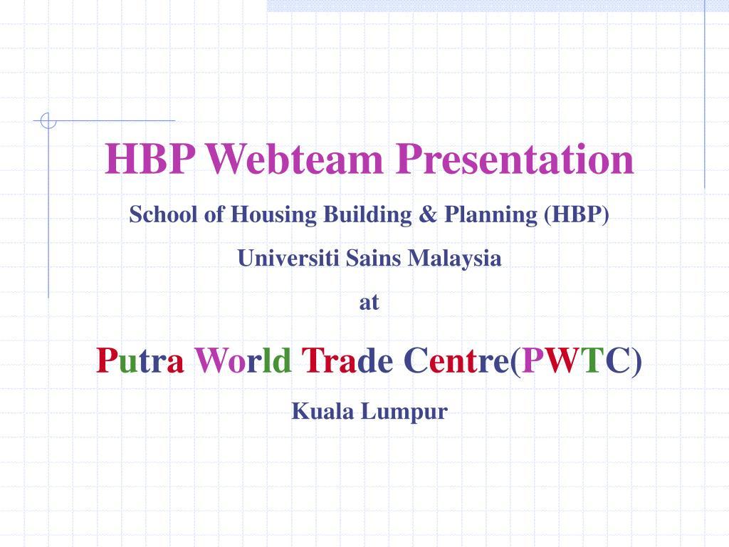HBP Webteam Presentation