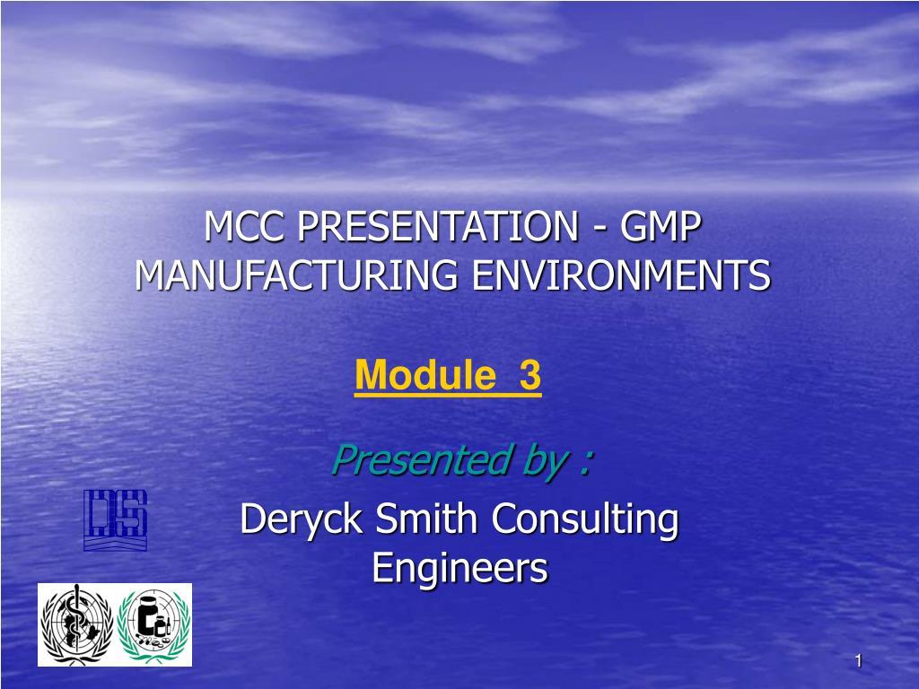 mcc presentation gmp manufacturing environments