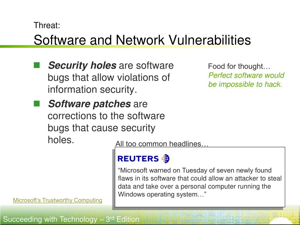 common network vulnerabilities essay Common vulnerabilities in critical infrastructure control systems name institution instructor date common vulnerabilities in industrial control systems industrial control systems face various vulnerabilities, which may occur both within and outside the network of the control.