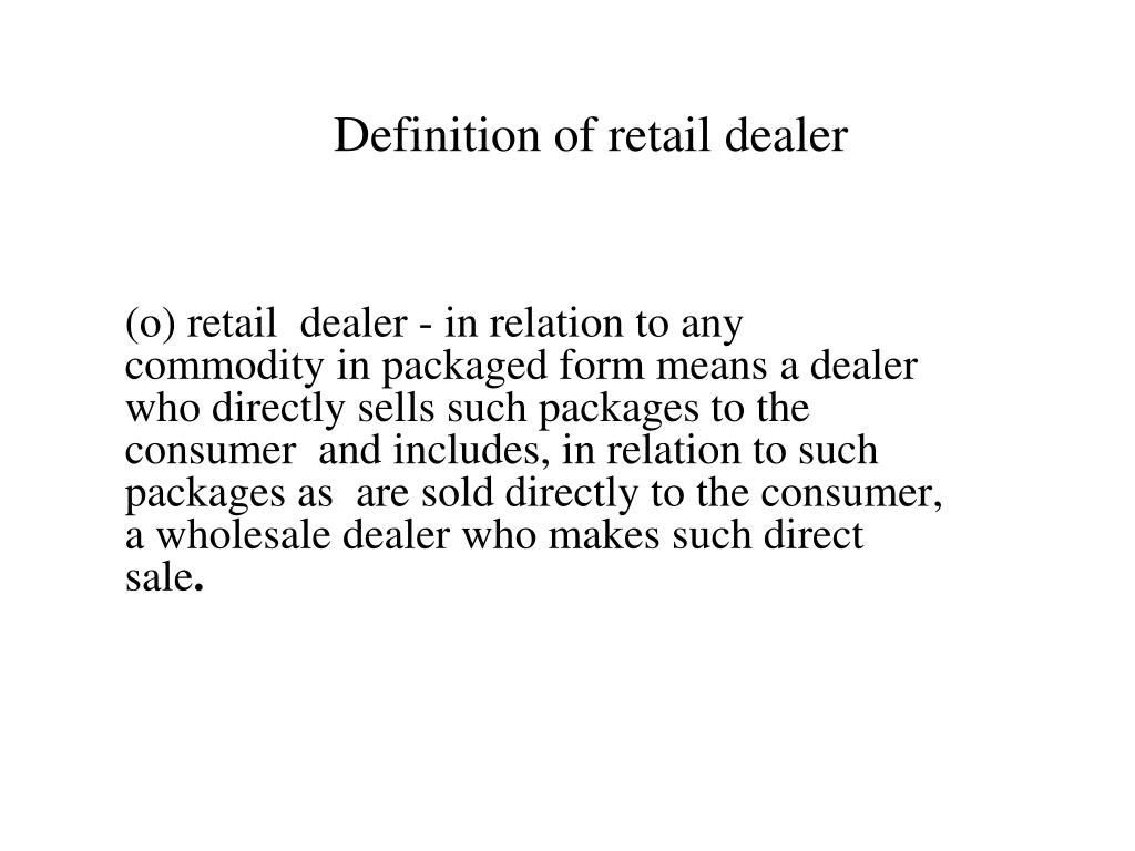 dealer meaning