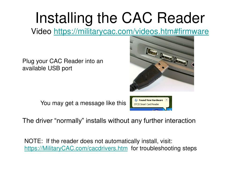 Cac Card Reader Software Download - Stanley Global ...