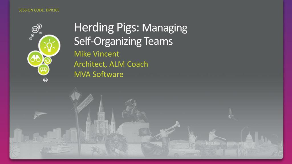 herding pigs managing self organizing teams