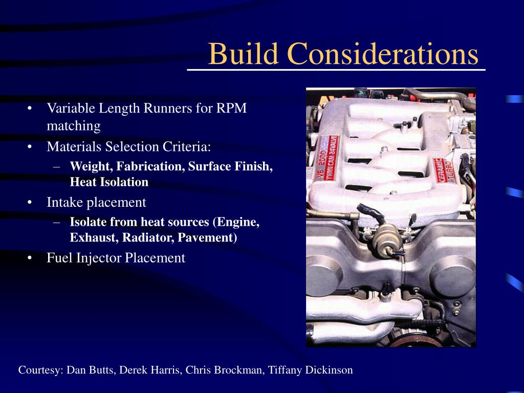 Build Considerations