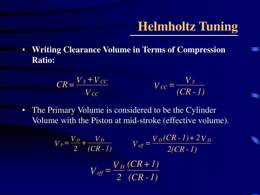 Helmholtz Tuning