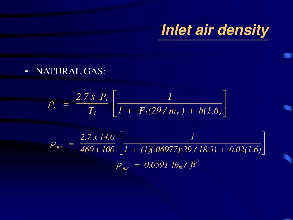 Inlet air density