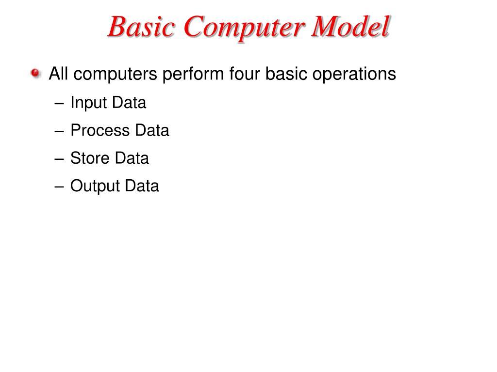 Basic Computer Model