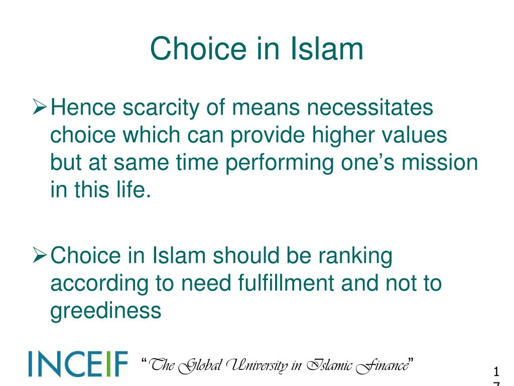 Choice in Islam