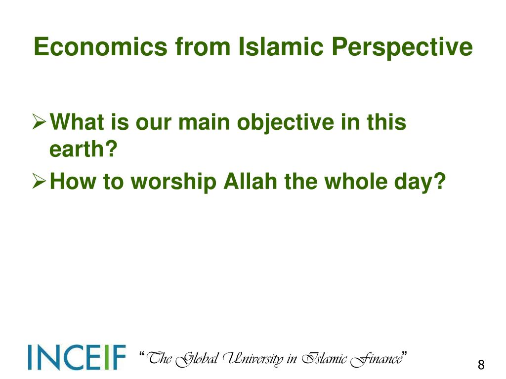 Economics from Islamic Perspective
