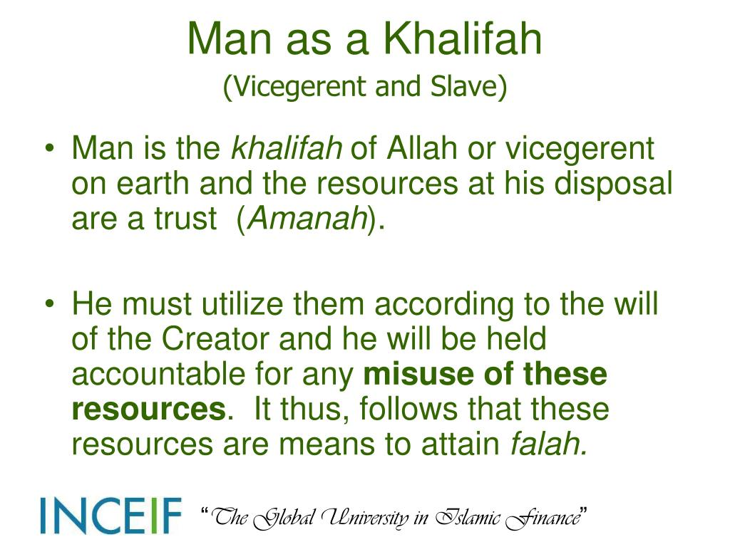 Man as a Khalifah