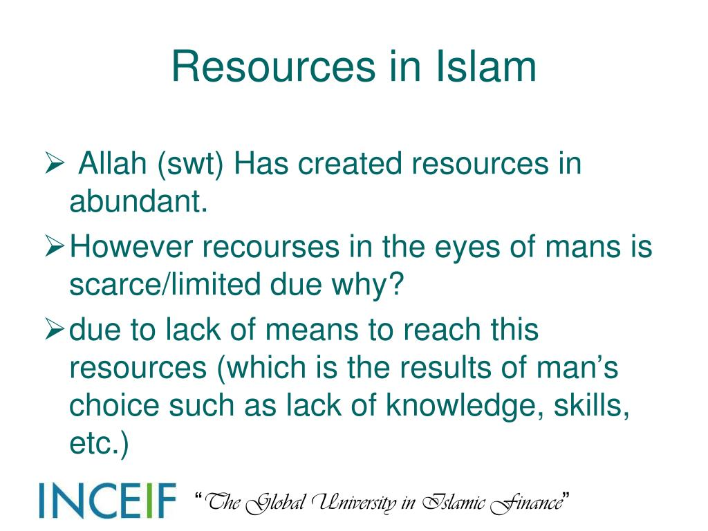 Resources in Islam