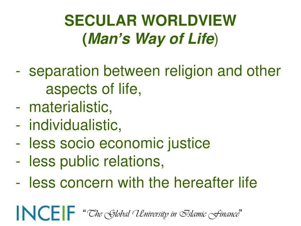 SECULAR WORLDVIEW