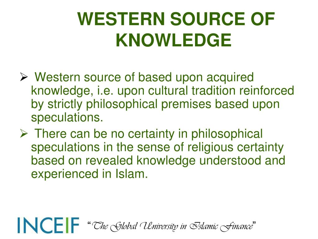 WESTERN SOURCE OF KNOWLEDGE
